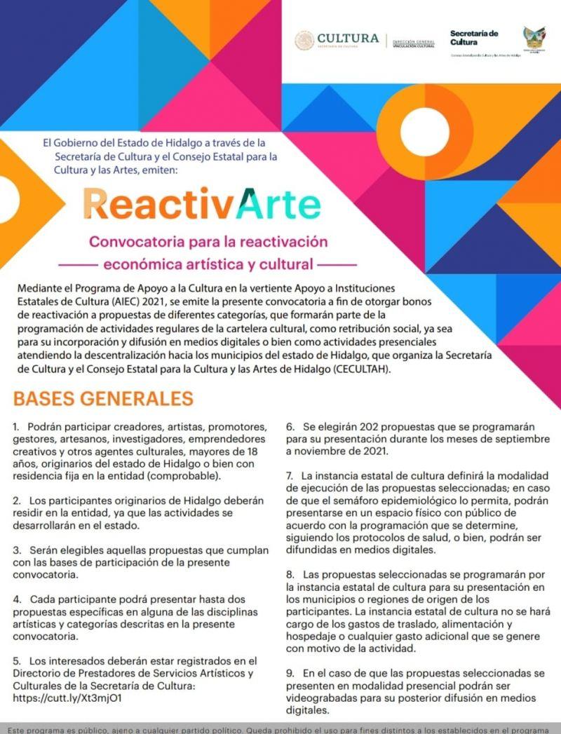 CONVOCATORIA ReactivArte